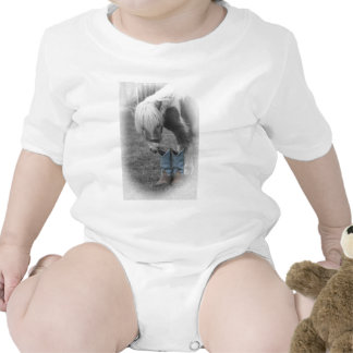 minature horse and boots baby bodysuit