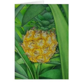 Minature Pineapple Greeting Card