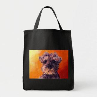 Minature Schnauzer Canvas Bags