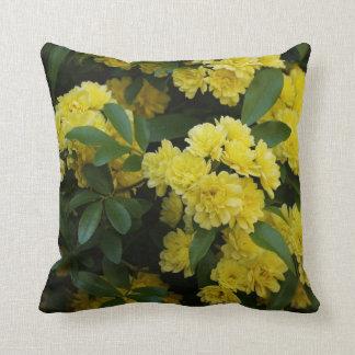 Minature Yellow Roses Throw Pillow