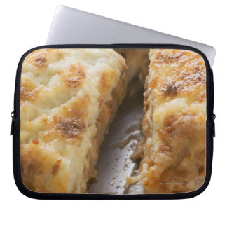 Mince lasagne, a portion cut laptop sleeve