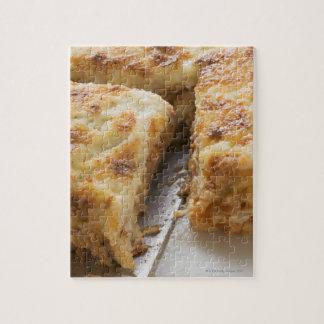Mince lasagne, a portion cut puzzle