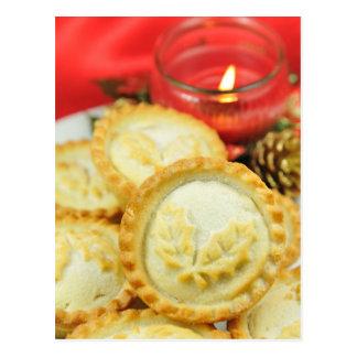 Mince pies for Christmas Postcard