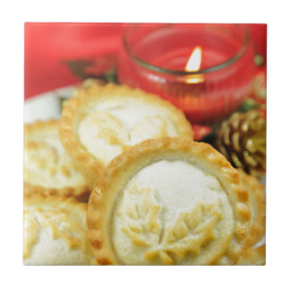Mince pies for Christmas Small Square Tile