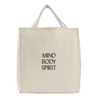 Mind, Body, Spirit Embroidered Bags
