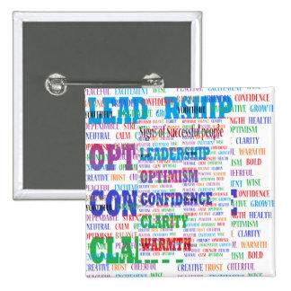 Mind boggling motivational text for success 15 cm square badge