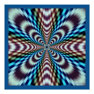 Mind-Boggling Vibrations Optical Illusion Posters