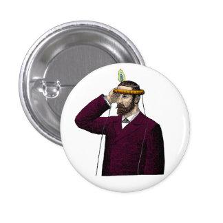 Mind Control Contraption Steampunk 3 Cm Round Badge