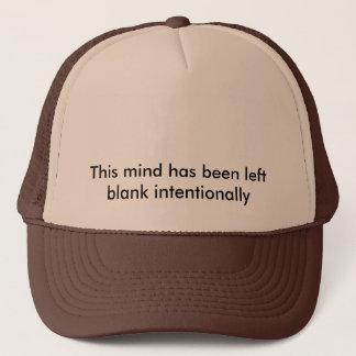 mind has been left blank trucker hat