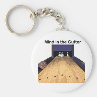 Mind in the Gutter Basic Round Button Key Ring