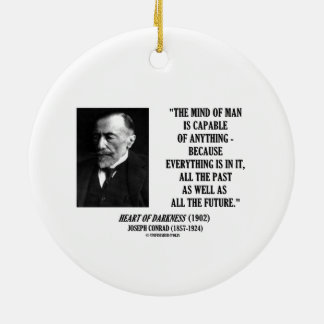Mind Of Man Capable Of Anything Everything In It Double-Sided Ceramic Round Christmas Ornament