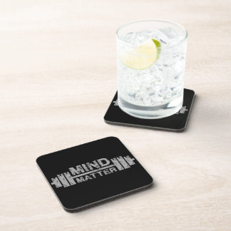 Mind Over Matter - Gym Workout Motivational Coasters