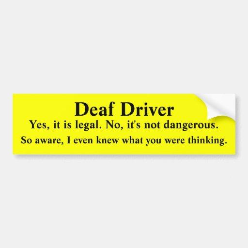 Mind Reading Deaf Driver Bumper Stickers