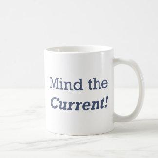 Mind the Current Basic White Mug