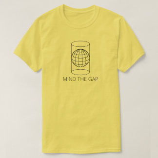 Mind the Gap (Cylindrical Projection - Light) T-Shirt