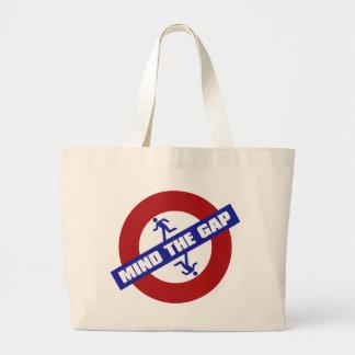 MIND_THE_GAP LARGE TOTE BAG