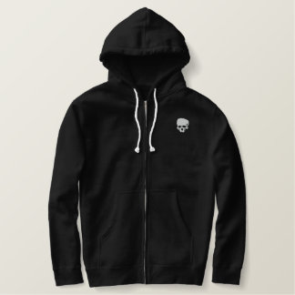 Mind Wither Day signature skull Embroidered Hoodie