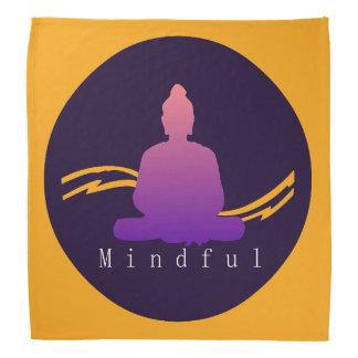 """""""Mindful"""" Beautiful Buddha. Bandana"""