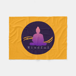"""Mindful"" Beautiful Buddha. Fleece Blanket"
