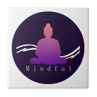 """Mindful"" Beautiful Buddha. Tile"