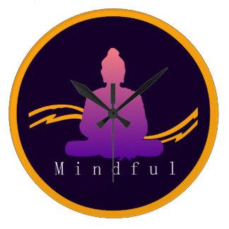 """""""Mindful"""" Beautiful Buddha Wall Clock. Large Clock"""