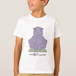 Mindful Moment Hippo Kids T-Shirt