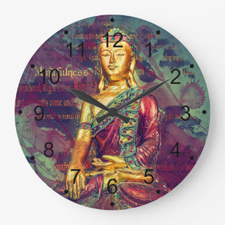 Mindfulness Buddha Large Clock
