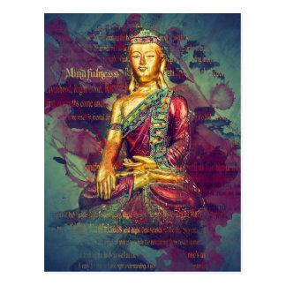 Mindfulness Buddha Postcard