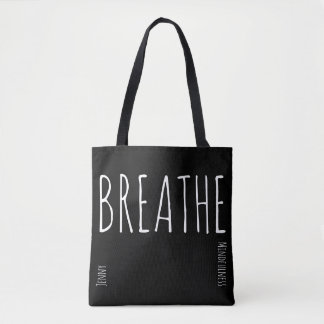 Mindfulness Gift BREATHE Personalized Tote