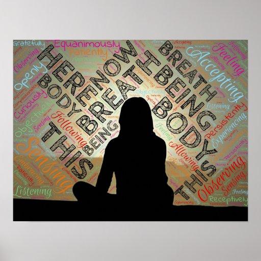 MINDFULNESS Poster Meditation Breath Stillness