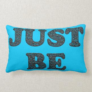 Mindfulness Vibrant Blue Throw Pillow