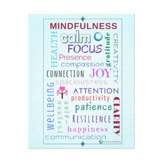 Mindfulness word jumble canvas print