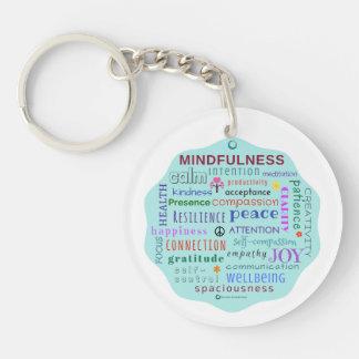Mindfulness Word Jumble Key Chain