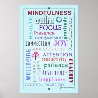 Mindfulness Word Jumble Poster