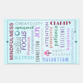 Mindfulness Word Jumble Rectangular Sticker