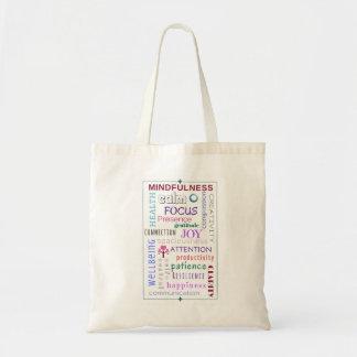 Mindfulness Word Jumble Tote Bag