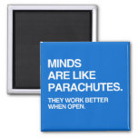 MINDS ARE LIKE PARACHUTES