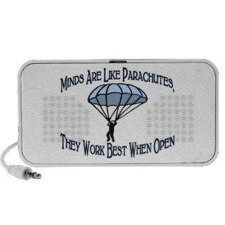 Minds Are Like Parachutes iPhone Speakers