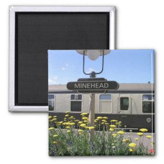 Minehead station, Somerset Square Magnet