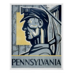 Miner In Pennsylvania 1937 WPA Posters