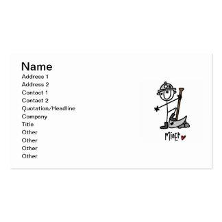 Miner Stick Figure Business Card Templates