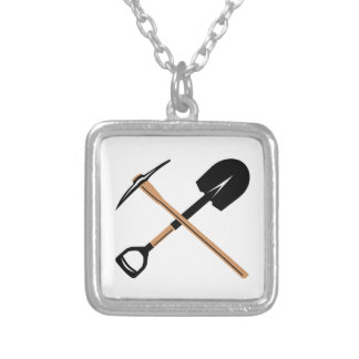 Miner Tools Square Pendant Necklace