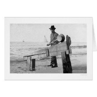 Miner Washing Gold Alaska 1905 Card