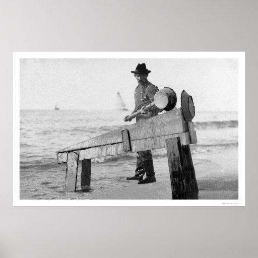 Miner Washing Gold Alaska 1905 Poster