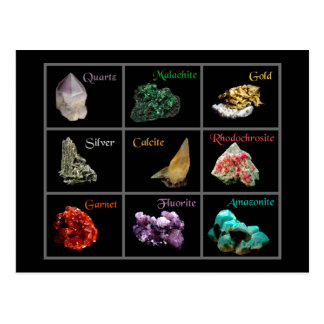Mineral Collection Postcard
