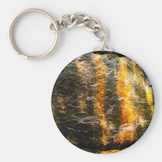 Mineral Spring Stone Basic Round Button Key Ring
