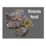 Minerals Rock Collectors Funny Postcard