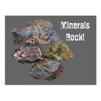 Minerals Rock Collectors Funny Postcard