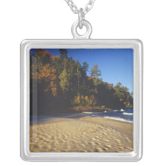 Miners Beach at Pictured Rocks National Silver Plated Necklace