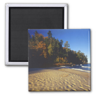 Miners Beach at Pictured Rocks National Square Magnet